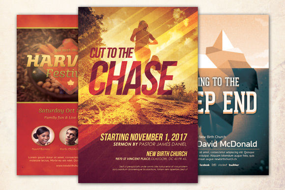 create a church flyer for you're ministry in 5 hours or less