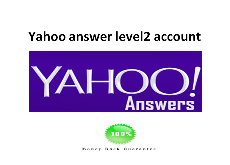 supply 1 yahoo answer level2 account