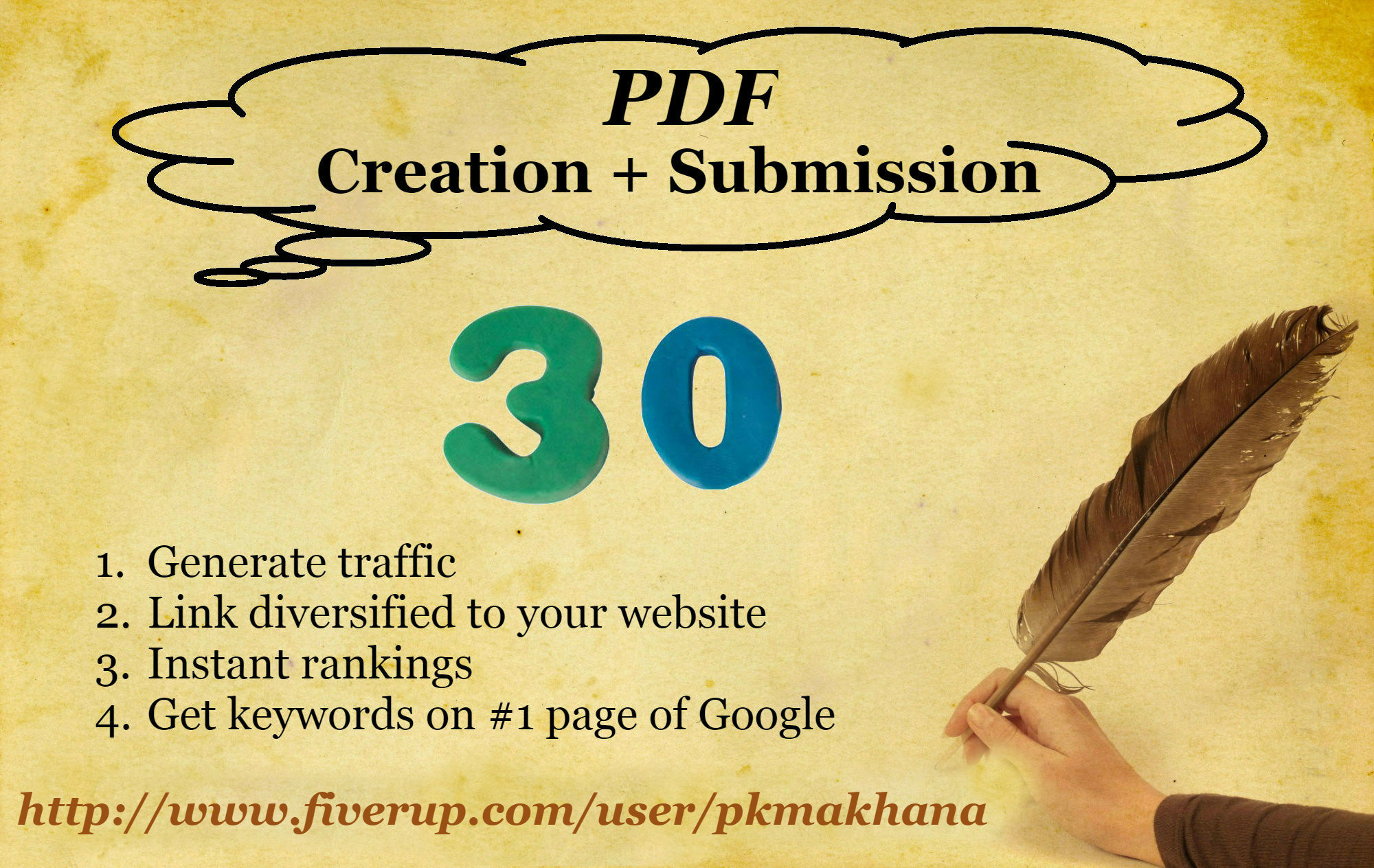 create a PDF and submit it on 30 document sharing sites