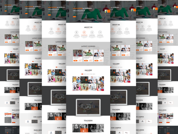 implement html template fully responsive