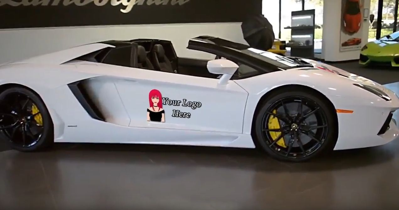 promote your business with this Lamborghini Aventador
