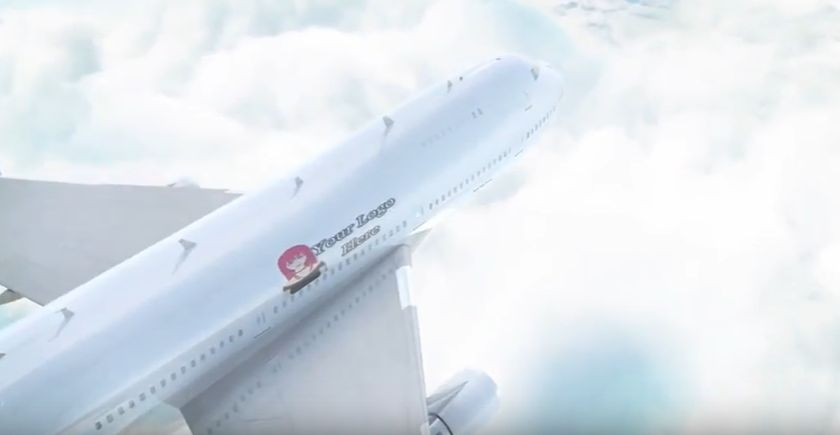 promote your business on this plane video