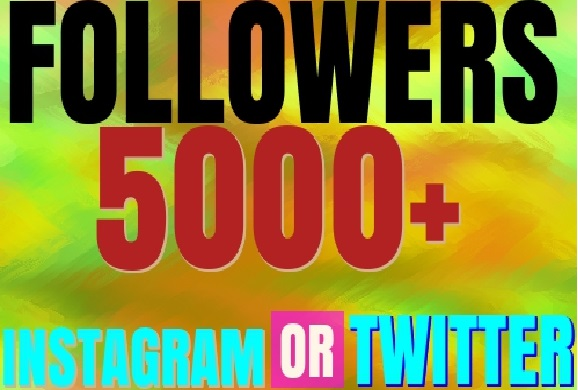 Add You 500+ Twitter or Instagram Followers