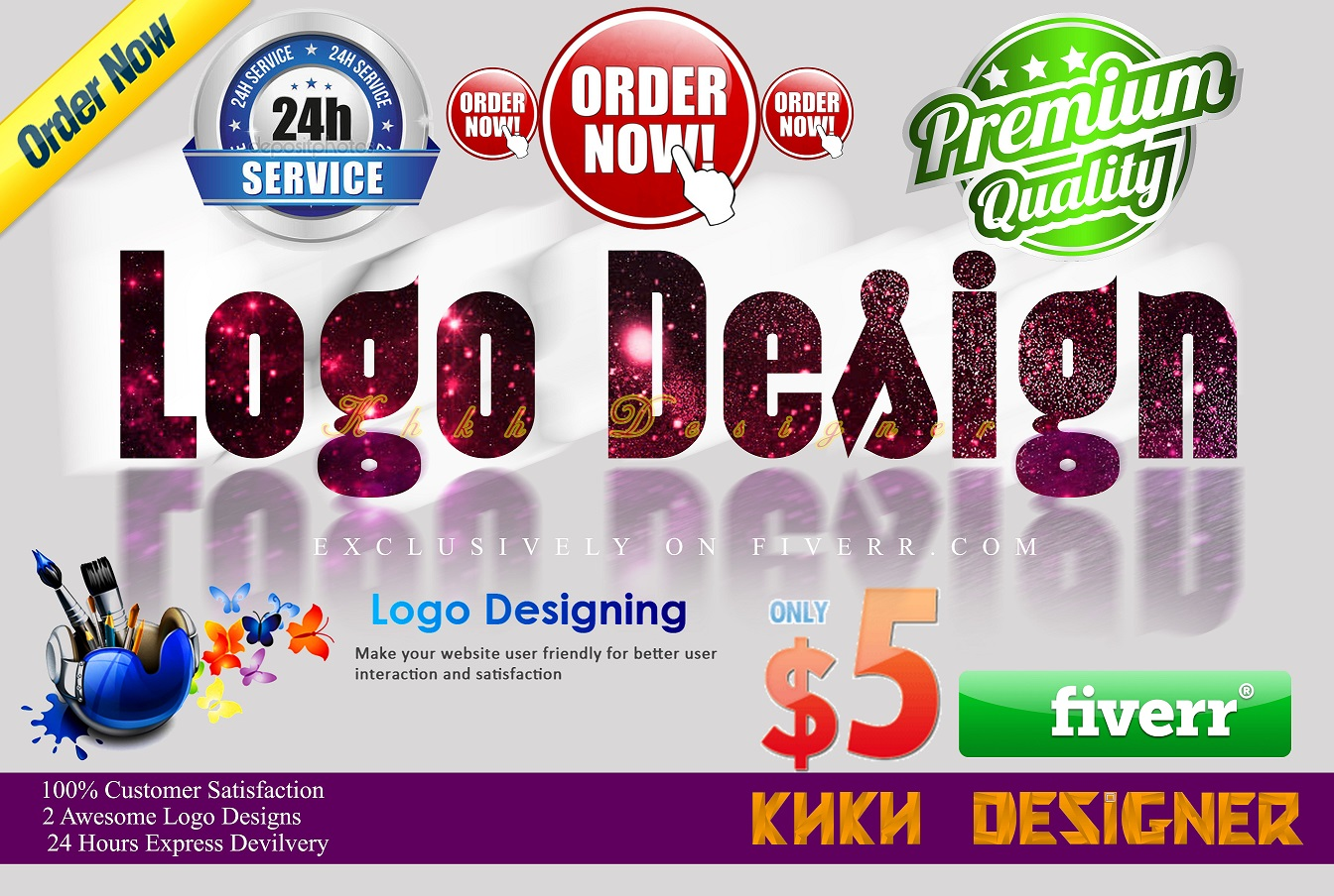 do 2 logo design in 12hr