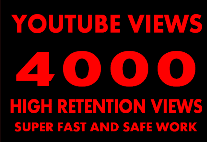 promote your Youtube video to 4000 real viewers