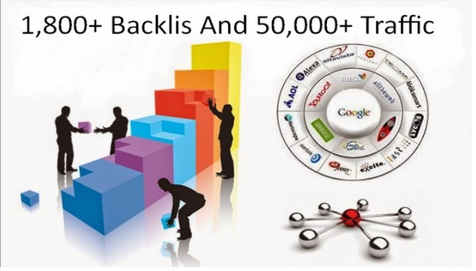 Provide you 1,800+ High Quality Backlinks And 50,000+ Traffic Your Website
