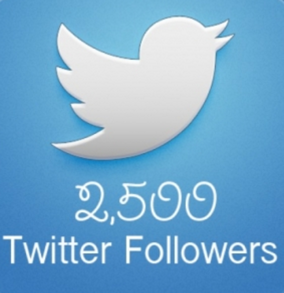 Give you 2500 twitter followers