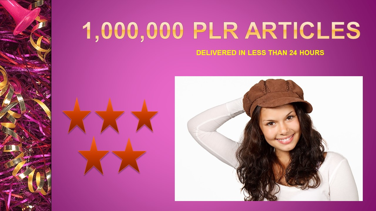 Give You 1,000,000 PLR Articles for Website or Blog
