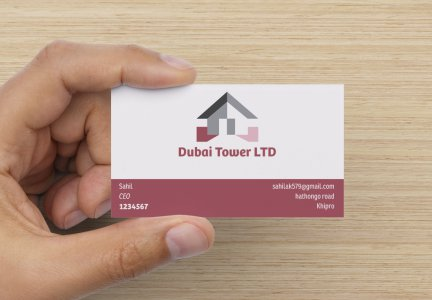 design OUTSTANDING 2side business card in 24 hours