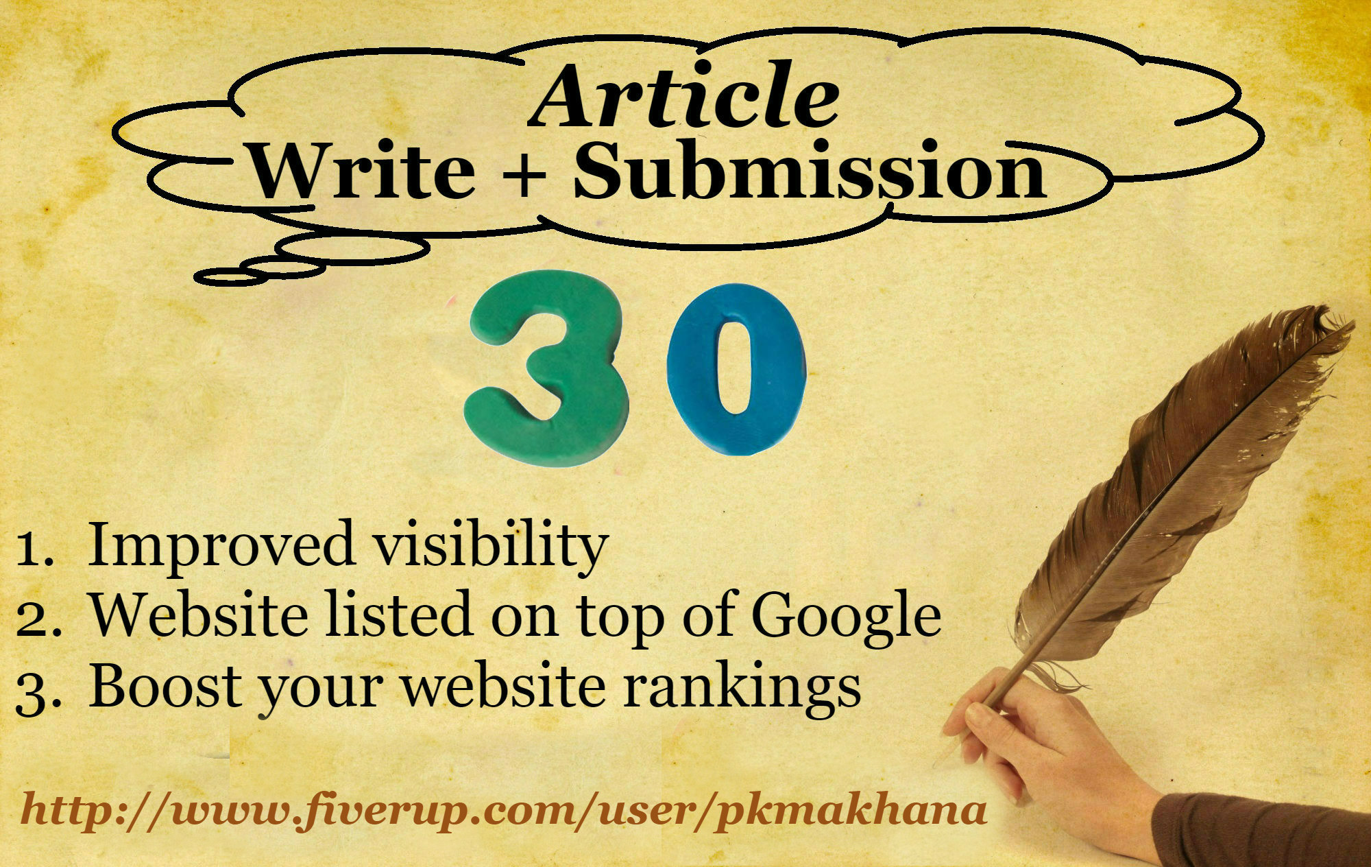 create 30 article submission backlinks
