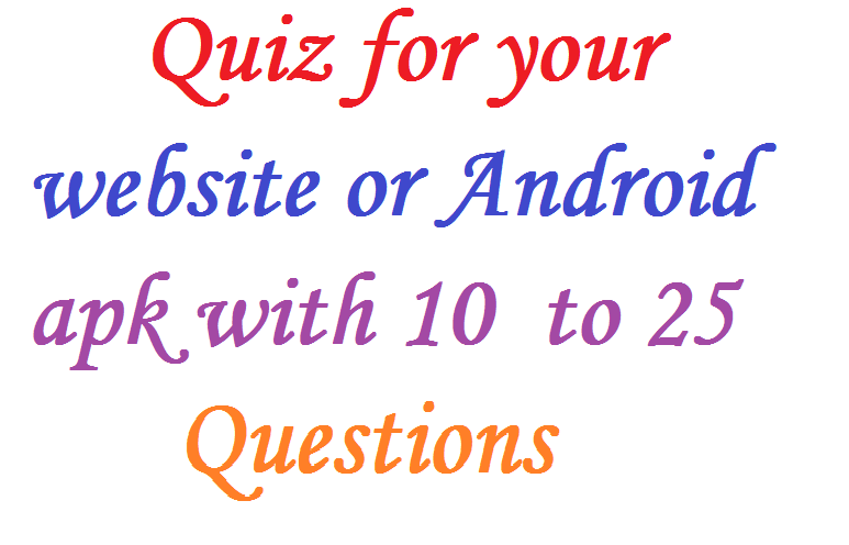 Create Quiz for Android or Website