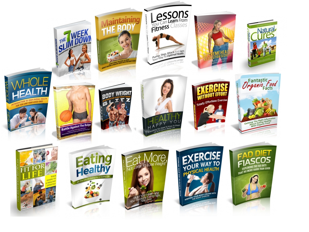 send you 99 Fitness and Health Free eBooks Resell Rights