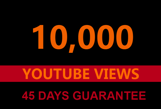 10000 Guaranteed Youtube views +100 likes