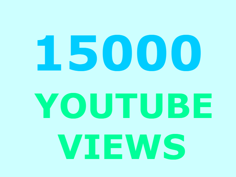 15000 Youtube views +300 likes +50 youtube subscribers (GUARANTEED)