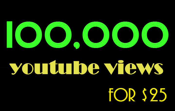 100k 100000 Youtube views and 100 likes
