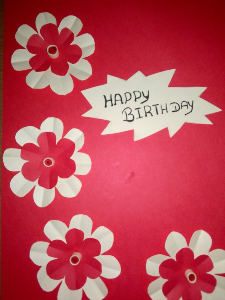 do a handmade greeting card