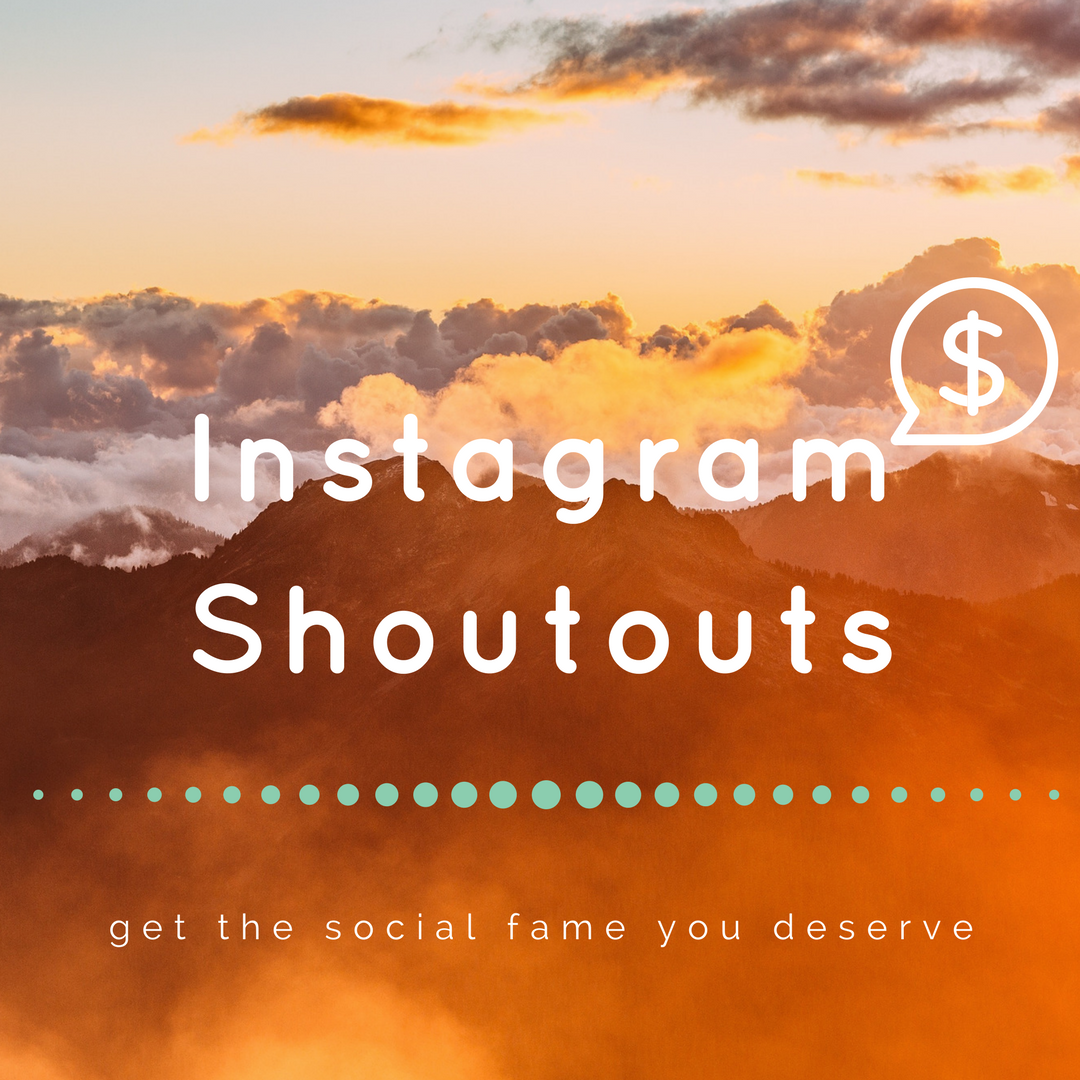 give you a shoutout on my Instagram page with 23,000 followers