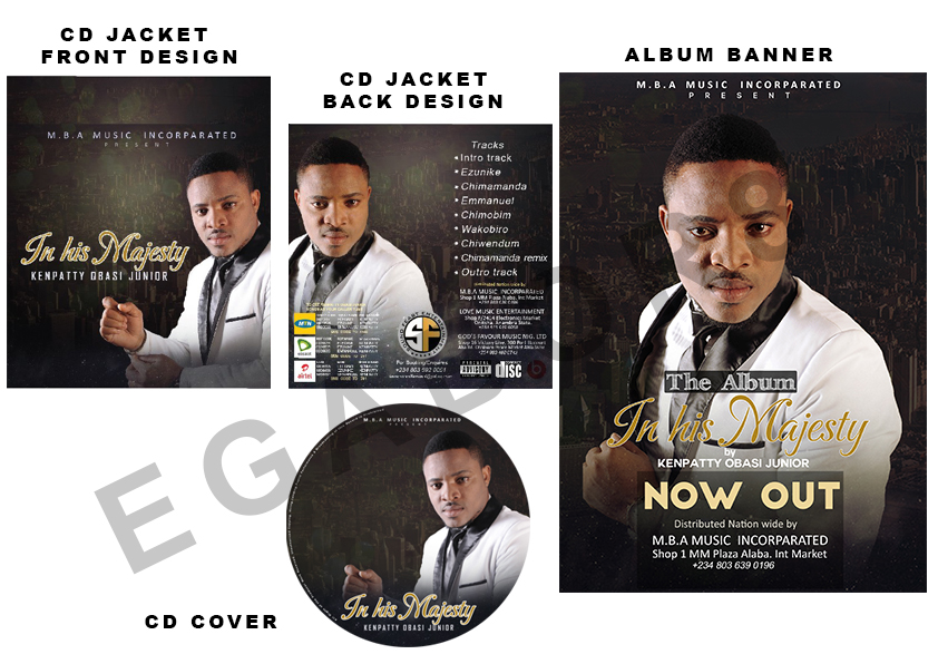 Design a professional music album design and cover design