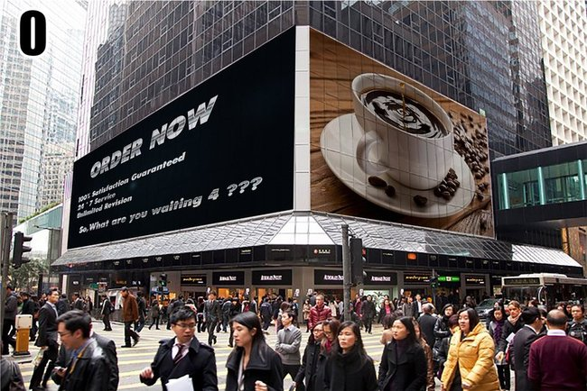 make 8 billboard advertisement of your logo,image or text