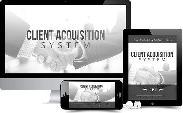 send you Client Acquisition System By Frank Kern