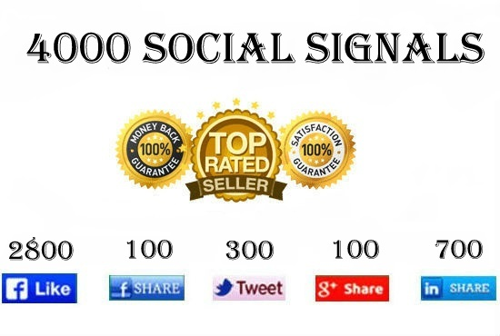 4000 High Quality Social Signals