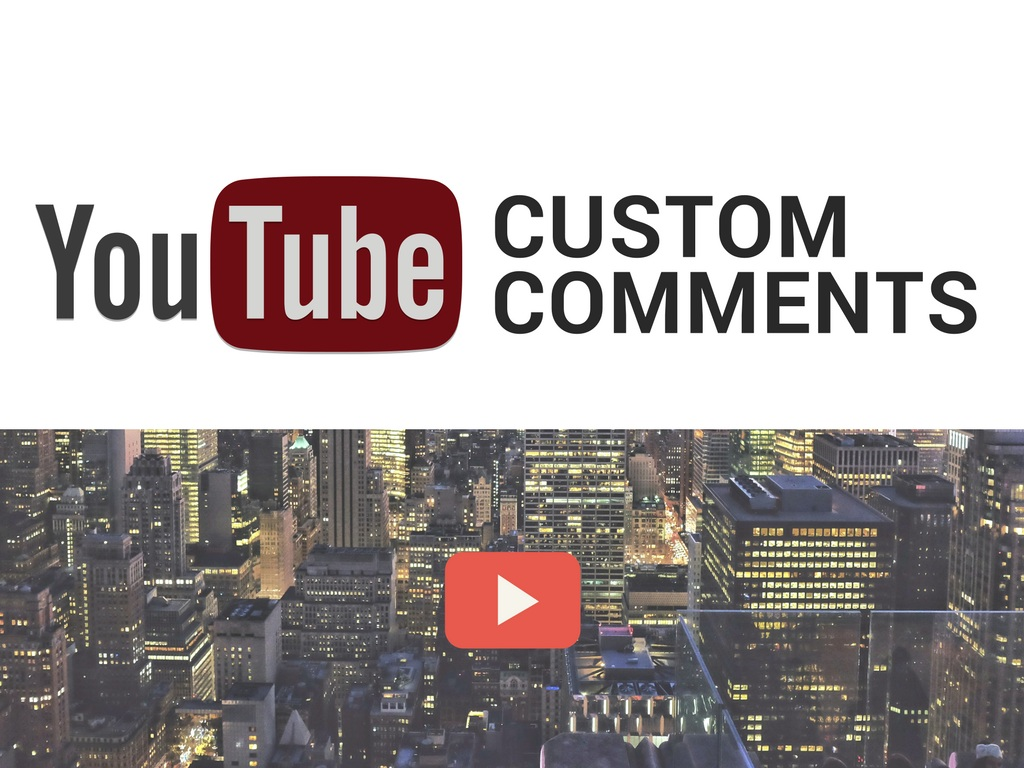 provide 25 custom comments on your YouTube video.