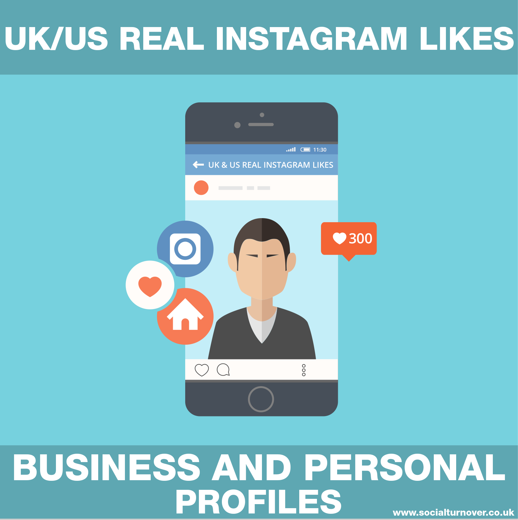 DELIVER 300 REAL UK/US BUSINESS & PERSONAL INSTAGRAM LIKES