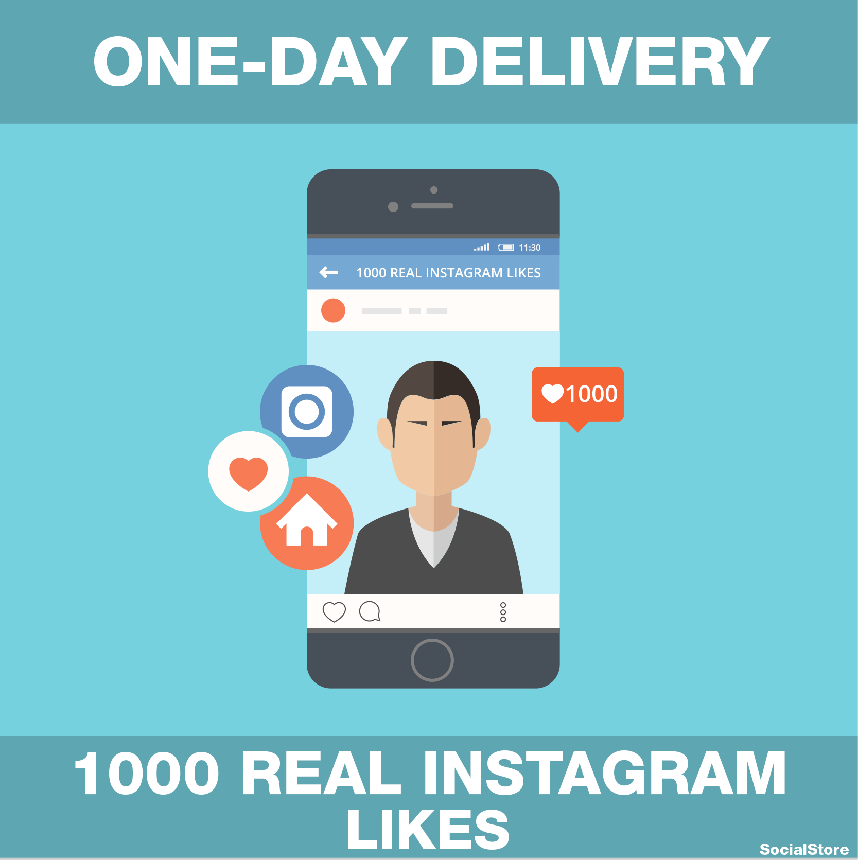 deliver 1000 REAL Instagram Likes (SPLIT to 10 photos)