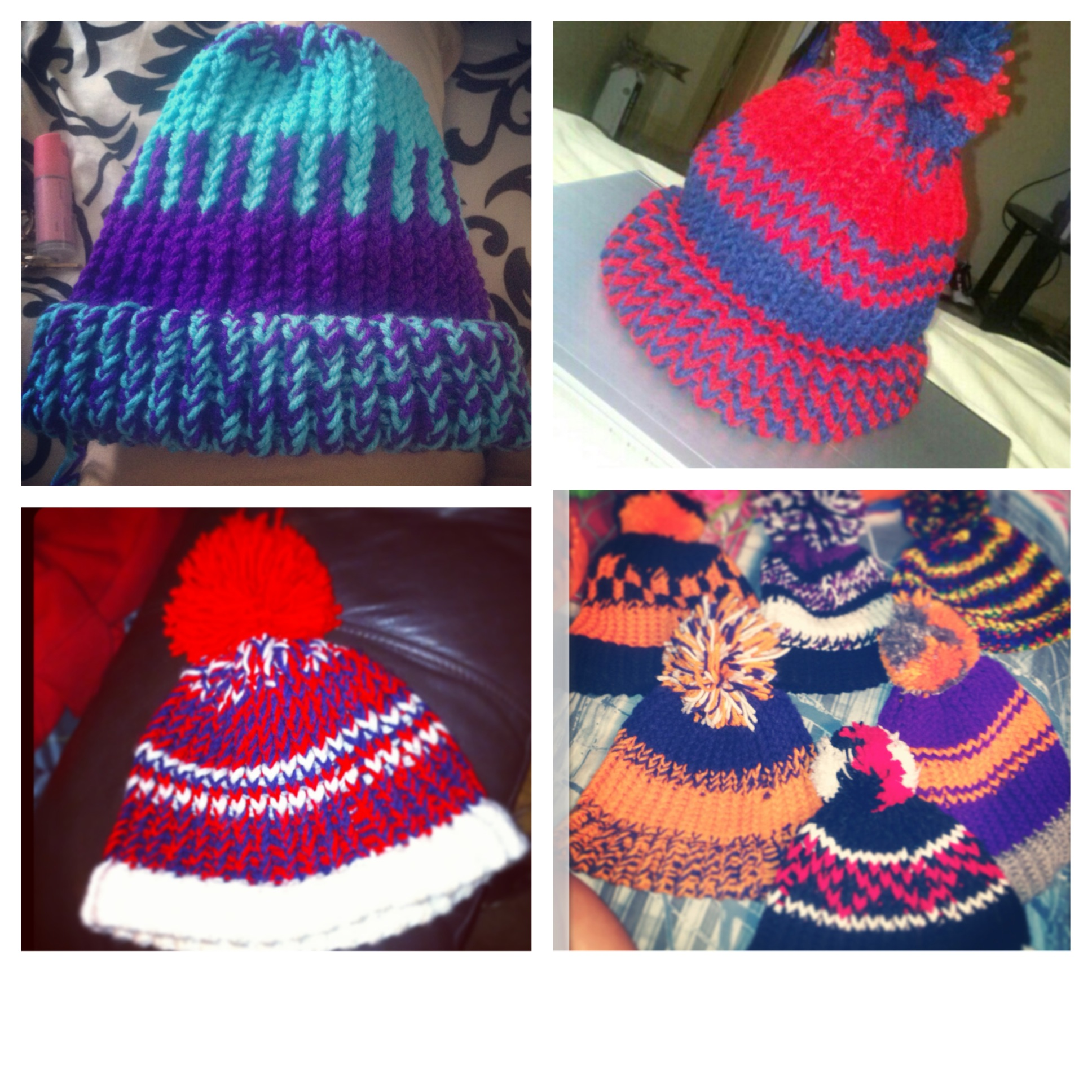 handcraft a beanie with your choice of the design.