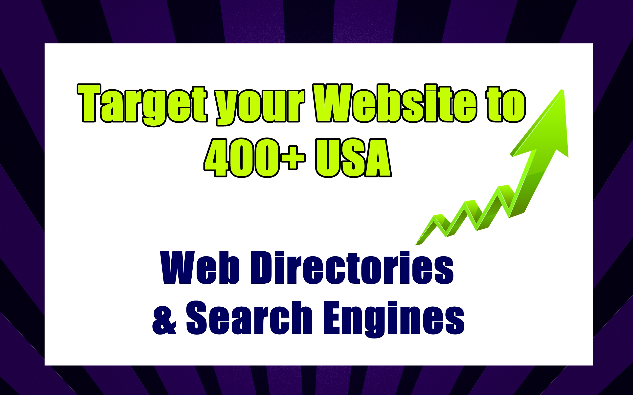 Target your Website to 400+ USA Web Directories & Search Engines