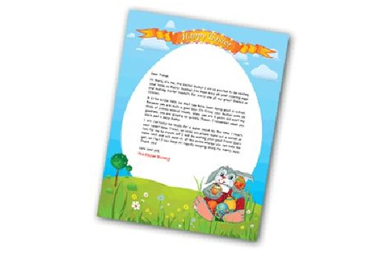 write your personalized Easter Bunny Letter within a few hours