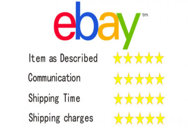 give you 10 ebay feedback with good comment