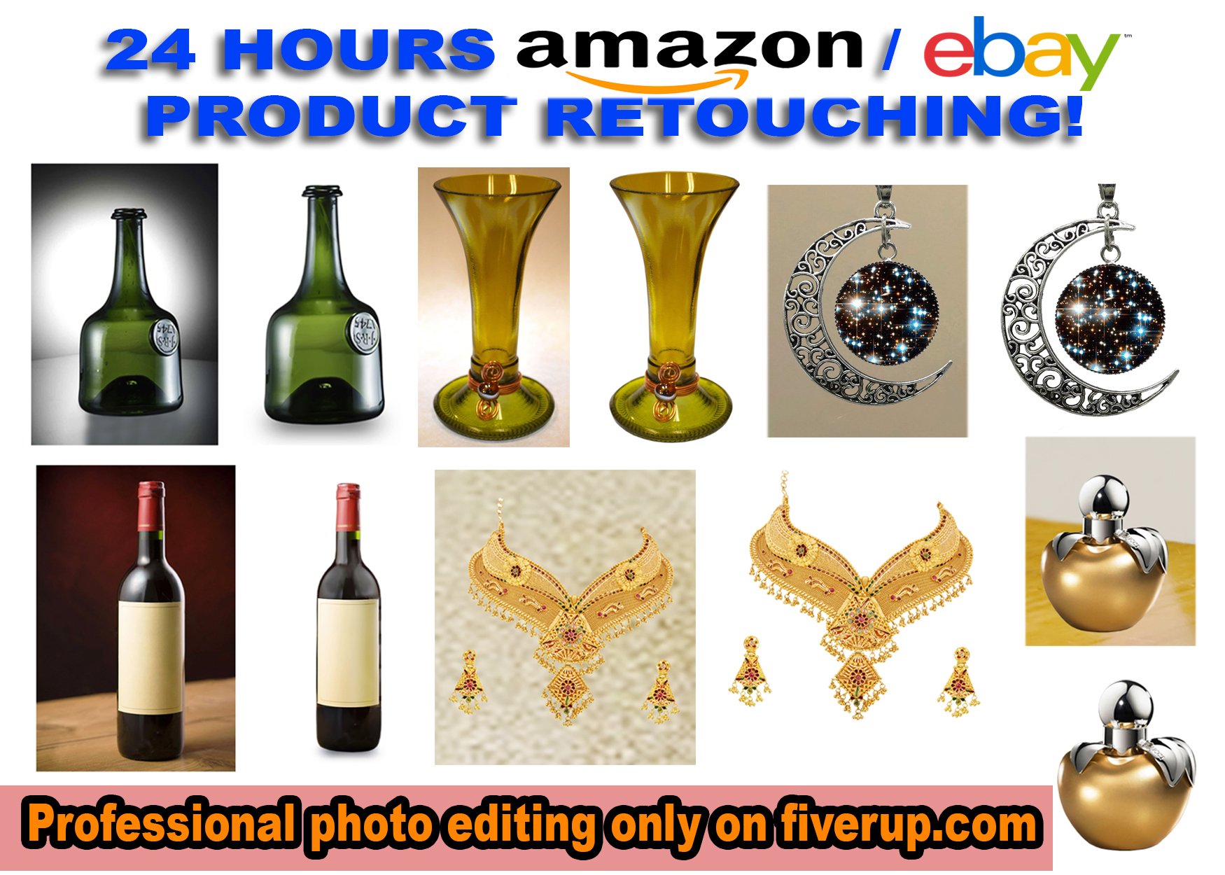 I will professionally retouch 20 product images for Amazon,Ebay in 24hrs