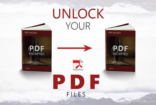 unlock PDF encrypted/secured files