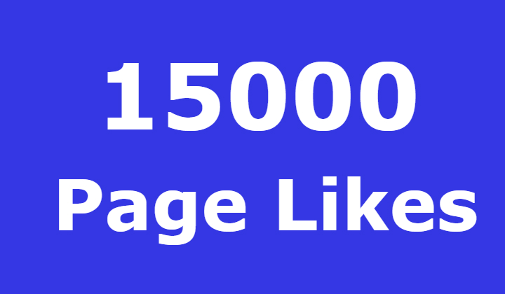 15000 Facebook Fanspage Likes