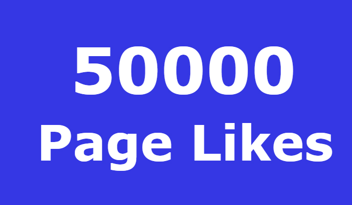 50000 Facebook Fanspage Likes