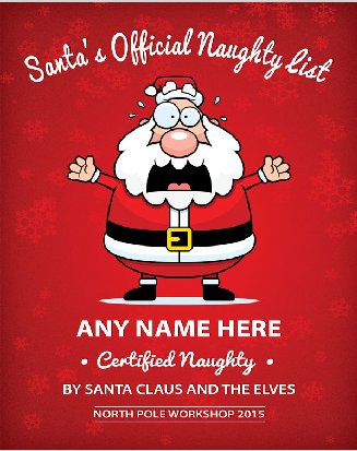 Personalized Santa Naughty Or Nice List