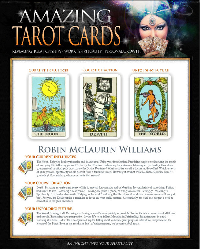 Personalized Amazing Tarot Cards