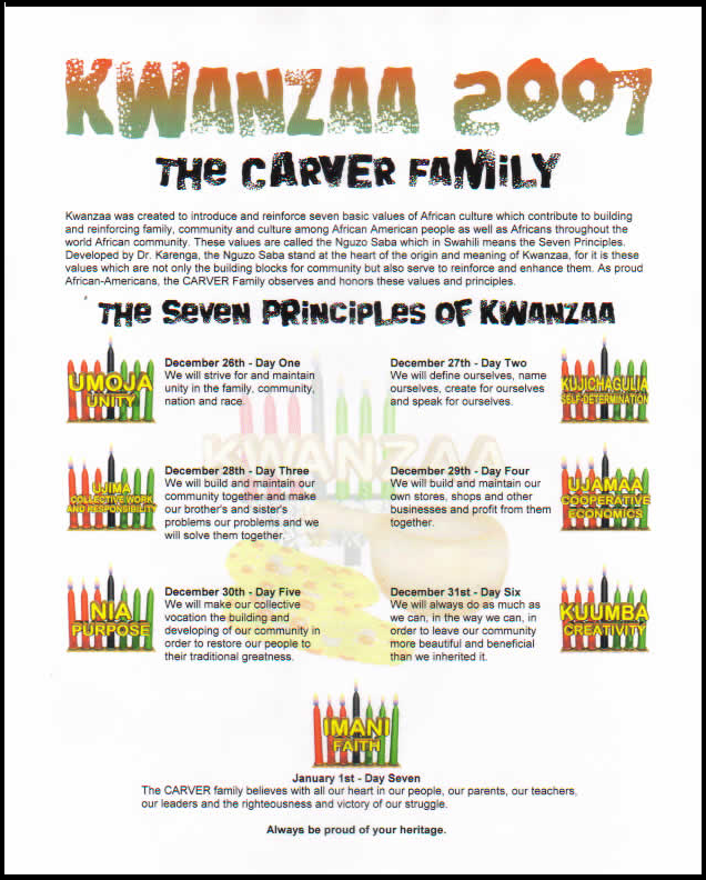 Personalized Kwanzaa