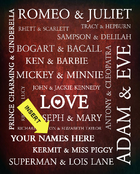 Personalized Famous Love Stories