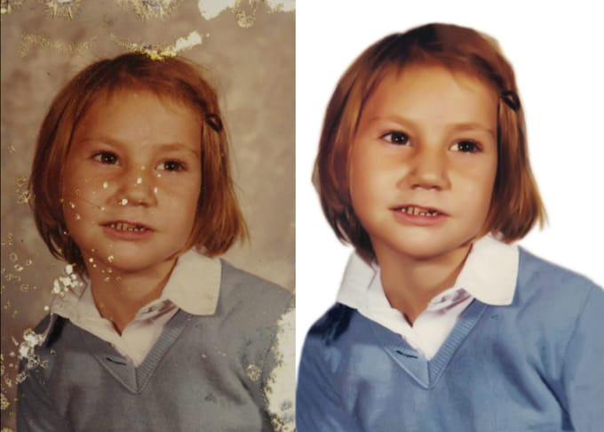 restore, repair, fix damaged photo and color correction