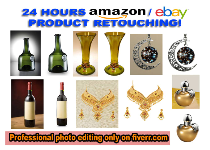 professionally retouch 20 product images for Amazon,Ebay