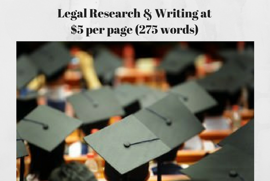 conduct your legal research and writing