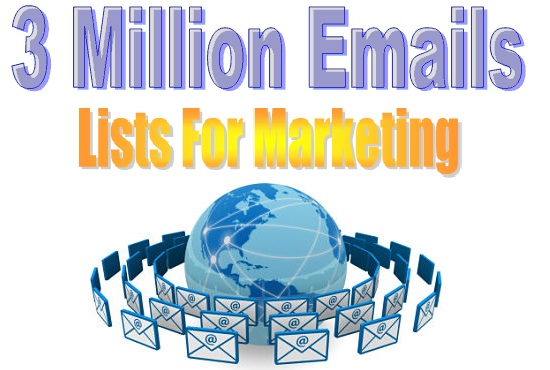 3 Million Emails Lists with Bonus 2000 ebooks