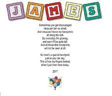 Personalized Hand Print Poem