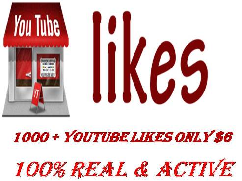 give you 1000+youtube likes your video only $5