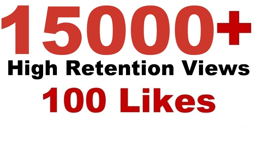 add YouTube 15000+ High Retention viewers & 100 Likes