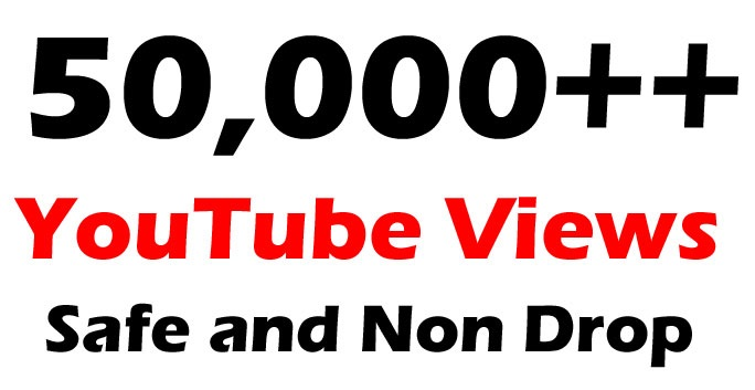 add Non drop 50000+ Good Retention views in your Youtube video