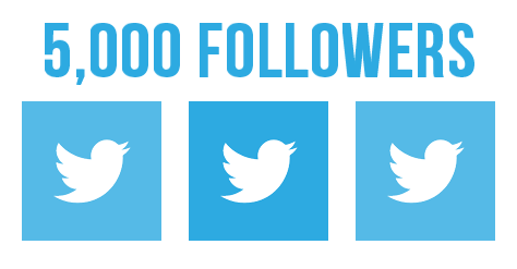 Give you 5000 Ultra High Quality Twitter Followers Real and Active Followers
