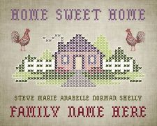 """Home Sweet Home """"The Cross Stitched Sampler Goes Digital"""""""